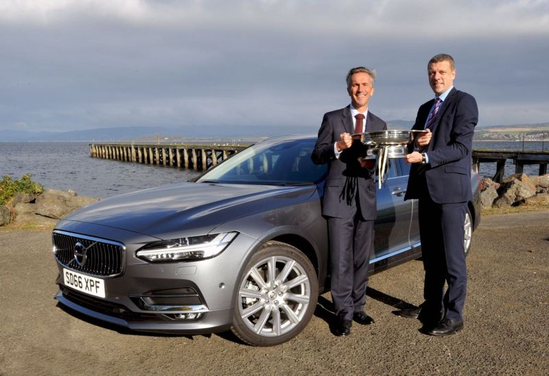 Jon Wakefield, Stephen Park and the award-winning Volvo V90