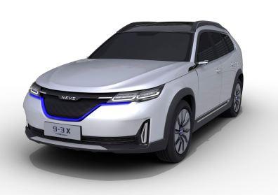 Elektroauto von NEVS mit SUV Design Elementen. NEVS 9-3X Concept. Bild: NEVS