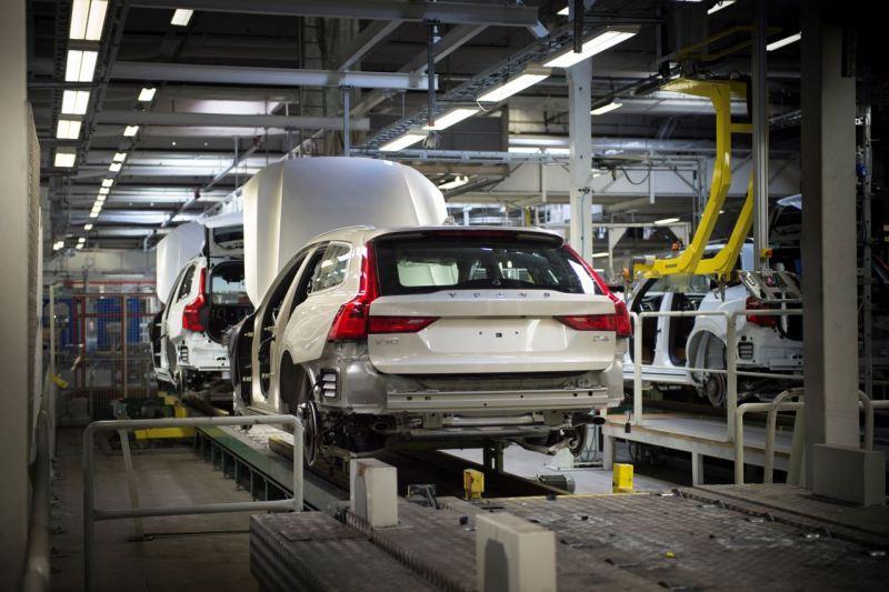 Volvo V90 Produktion in Torslanda