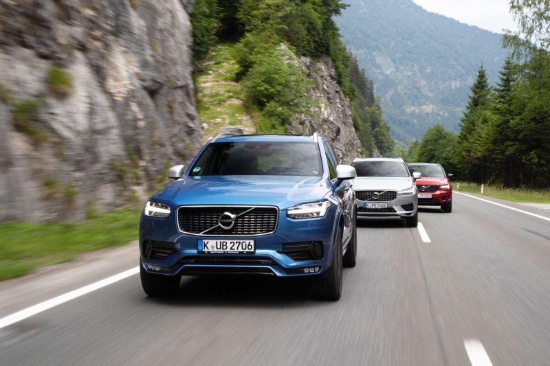 Volvo XC90, Volvo XC60 und Volvo XC40