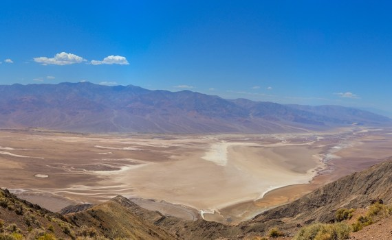 Badlands at Zabriskie Point in Death Valley