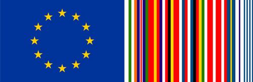 Abb.: Links die offizielle EU-Flagge von 1955, rechts der Entwurf von REM Koolhaas