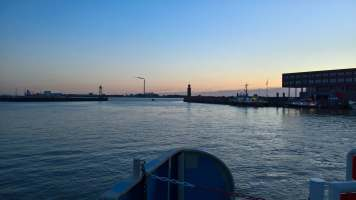 Späterer Abend in Bremerhaven
