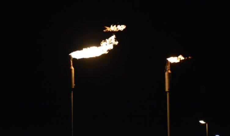 Fackeltätigkeit bei BP Lingen Foto: NordNews.de