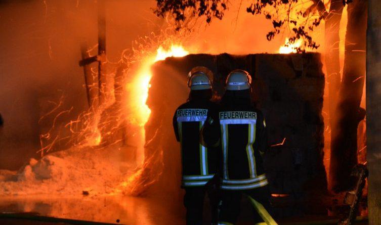 Wietmarschen - Brand auf Betriebsgelände an der Lohner Straße Foto: NordNews.de