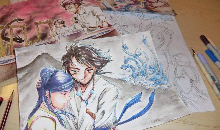 Manga, Puppen und Zauberzubehör - Unter der Leitung von Izumi Mikami-Rott erlernt jeder in kurzer Zeit die Technik der Manga-Kunst. Foto: Izumi Mikami-Rott, Manga