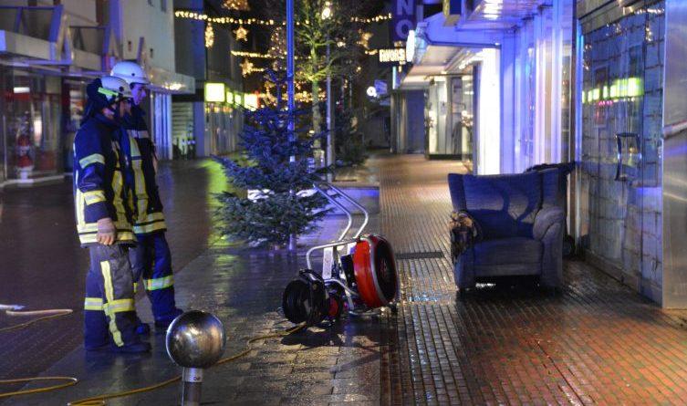 Aktuell: Sesselbrand in der Marienstraße