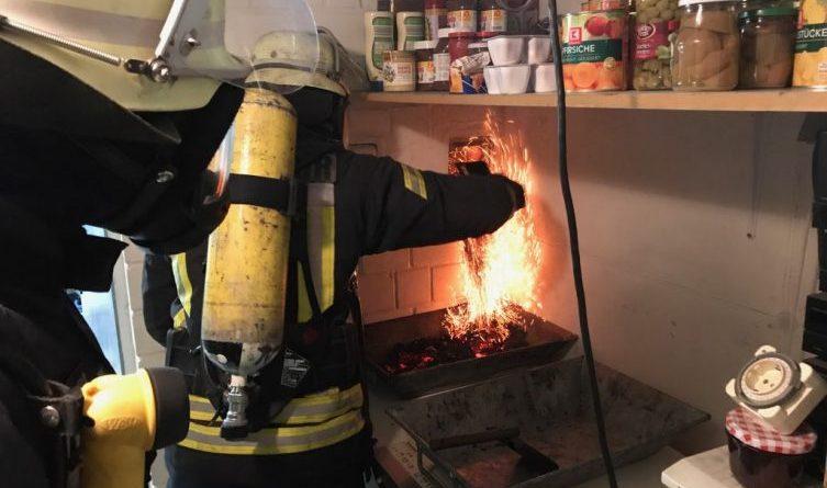 Schornsteinbrand auf der Blanke Foto: Holger Schmalfuß