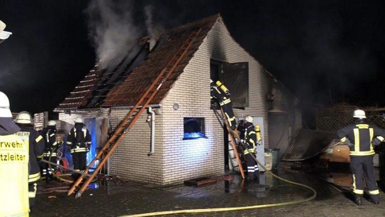 Aktuell: Brand einer Sauna in der Brandenburger Straße in Meppen Foto: NordNews.de