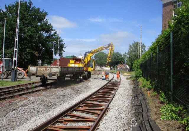 Bahnübergang Bernhard-Niehues-Straße länger gesperrt Foto: Stadt Nordhorn