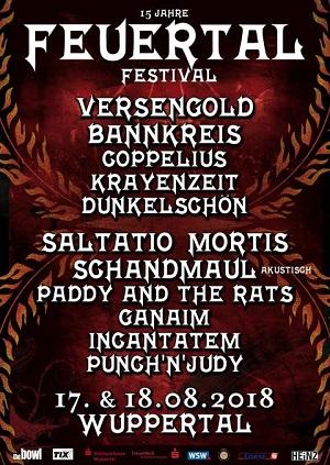 15. FEUERTAL FESTIVAL – Line Up im Jubiläumsjahr bestätigt - am 17. Und 18. August erwacht das Mittelalter wieder in Wuppertal!