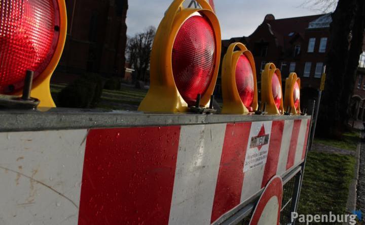 Sperrung des CEKA-Parkplatzes Foto: Stadt Papenburg