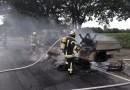 Geeste. Osterbrock. Gegen 14.20 Uhr wurde die Freiwillige Feuerwehr Geeste - Osterbrock zu einem Brand eines Transporter in die Klosterholter Strasse alarmiert. Foto: NordNews.de