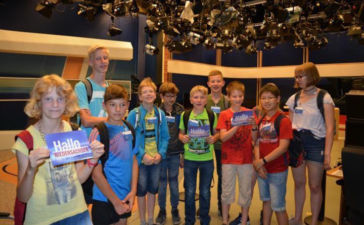 Ferienpassaktion Geeste - Kinder besuchen den NDR in Hannover -Geester Kinder besuchen das NDR Studio.Foto © Sarah Abheiden
