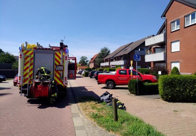 Biene / Holthausen Aktuell: Feuerwehreinsatzin der Lange Straße Foto: NordNews.de