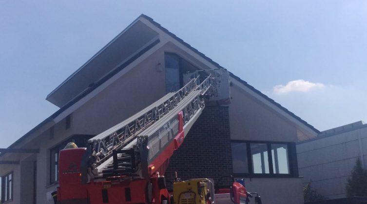Lingen/ Baccum. Dachstuhlbrand im Satrunring Foto: NordNews.de