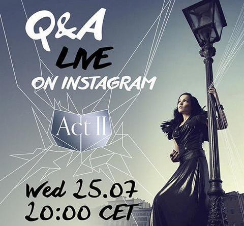 Tarja läd Fans heute Abend zu Q&A auf Instagram ein