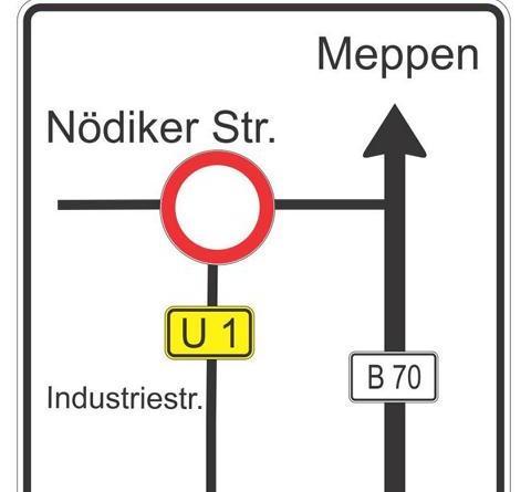 Meppen. Aufgrund von Asphaltierungsarbeiten muss die Kreuzung Industriestraße/ Nödiker Straße in der Zeit vom 6. bis 31. August voll gesperrt werden. Umleitungen werden ausgeschildert. Fußläufig ist die Baustelle passierbar.