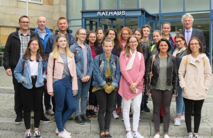 Schüler aus dem ungarischen Mezöberény auf Stippvisite in Lingen. Foto: Stadt Lingen