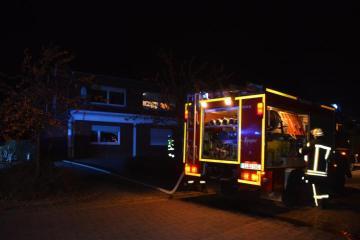 Osterbrock - Roller fängt im Schuppen in der Gartenstraße an zu brennen - eine leicht verletzte Person Foto: NordNews.de