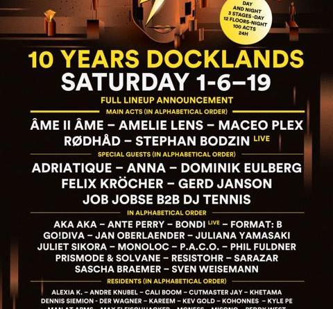 FULL LINE UP ANNOUNCEMENT 2019 +++ 10 YEARS DOCKLANDS +++