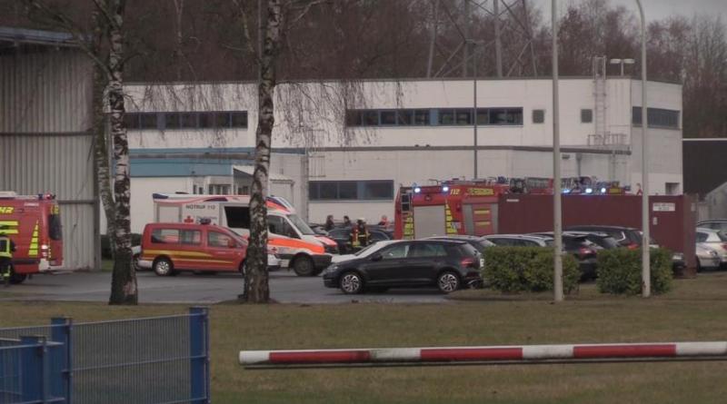 Feuer im Bürogebäude auf dem altem Kraftwerksgelände - keine Gefahr für die Bevölkerung Foto NordNews.de