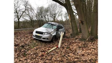 Börger - 54-jährige Frau nach Unfall im Krankenhaus Foto: Polizei