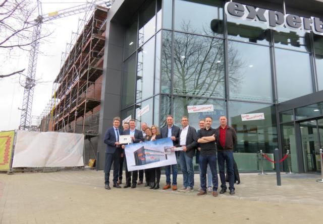 Zweiter Bauabschnitt bei Expert RIAL-Kauf gestartet Gesamtinvestition von 3,8 Millionen Euro Foto: Stadt Lingen