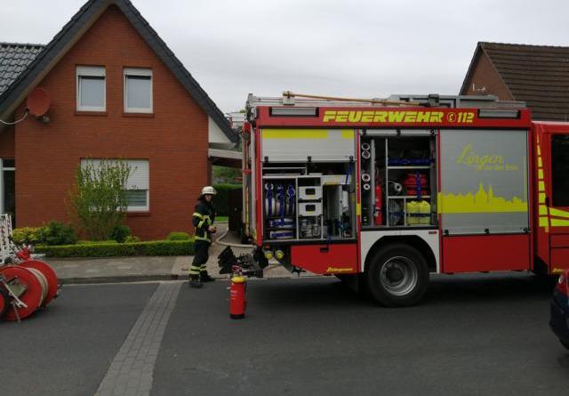 AKTUELL Lingen - Gasgrill brannte am Hessenweg Foto: NordNews.de