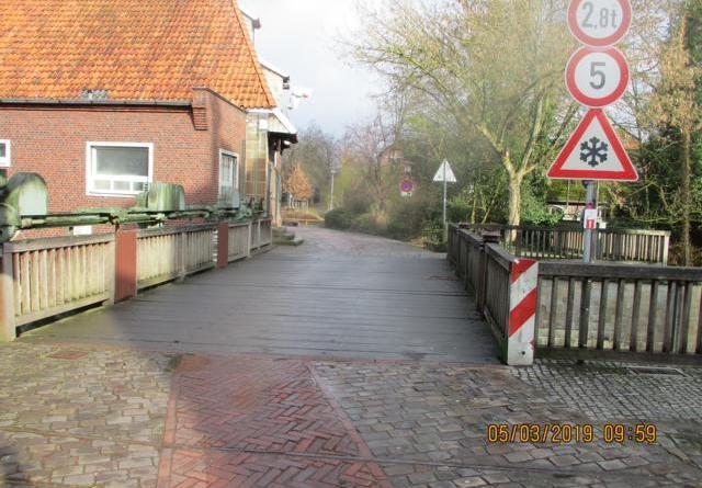Sperrung der Brücke an der Kornmühle (Mühlendamm) - Foto: Stadt Nordhorn