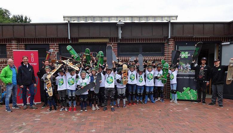 Hoch motiviert starteten die Jugendlichen beim Skaterworkshop. Foto: Stadt Haren