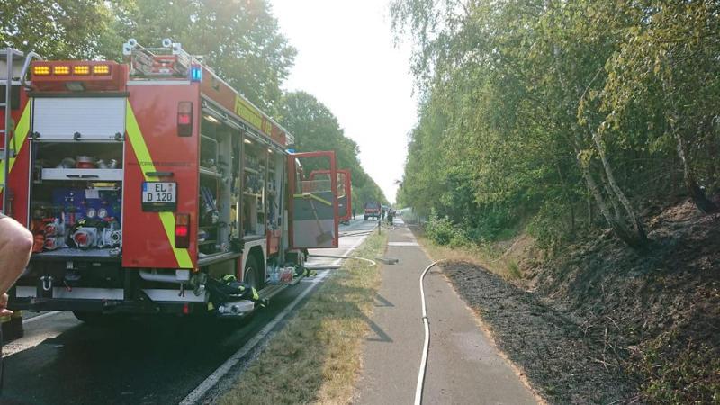 Böschungsbrand in Esterwegen - Infos der Feuerwehr - Foto: Torsten Stindt