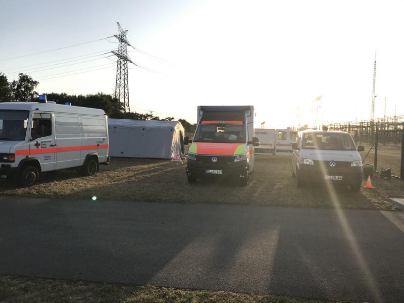 Verletztensammelplatz wurde durch die SEG eingerichtet, Foto: SG Dörpen - Feuerwehr