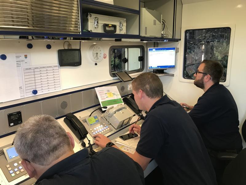 Koordination der Einsatzstelle übernahm die TEL Nord des Landkreises Emslands. Foto: SG Dörpen - Feuerwehr