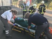 Verletzte Personen wurden durch die SEG zum Verletztensammelplatz verbracht und versorgt. Foto: SG Dörpen - Feuerwehr