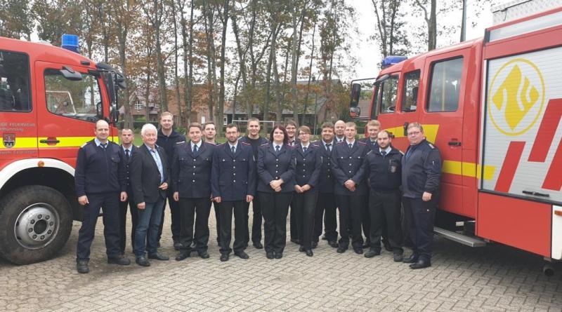 Truppmann 2 Prüfung der Feuerwehren Nordhümmling am 19.10.2019 in Hilkenbrook - Foto: Stefan Kröger