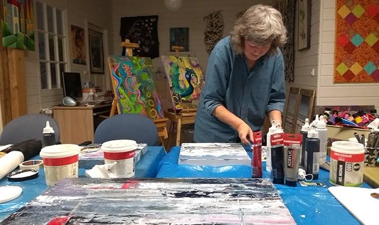 Tineke Koedam in Aktion. Foto: Willemien Slötjes