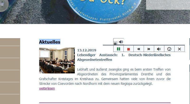 Mit dem ReadSpeaker digitale Teilhabe ermöglichen - Foto: Landkreis Grafschaft Bentheim