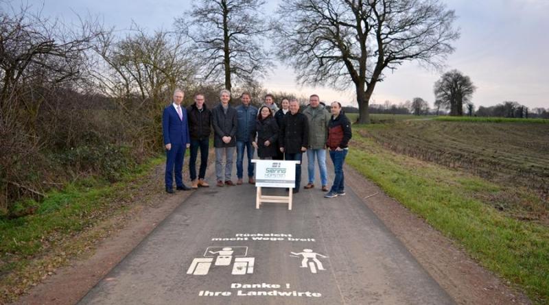 Erfolgreicher Ausbau des Wirtschaftsweges Emstalstraße und Dalän - Foto: Gemeinde Geeste