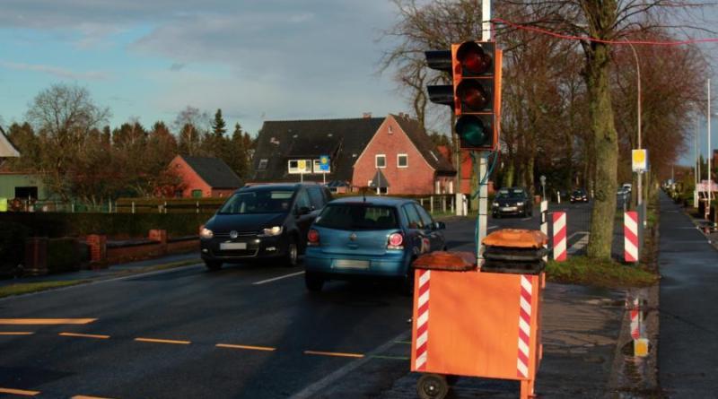 Neue Ampel an der Emdener Straße – Überholverbot an der Gutshofstraße - Foto: Stadt Papenburg