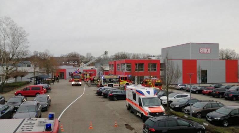 Lingen - Brand bei EMCO schnell gelöscht - Foto: NordNews.de