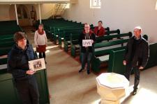 Die Pastoren und Pastorinnen der evangelischen Kirchengemeinden in Papenburg freuen sich auf die Übertragung der Gottesdienste. Auf dem Bild fehlt Pastor Maennl. Foto: Stadt Papenburg
