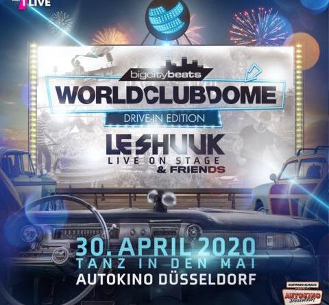 """BigCityBeats verwandelt mit Radio-Partner 1LIVE Autokino zum WORLD CLUB DOME Drive-In """"Tanz in den Mai"""""""