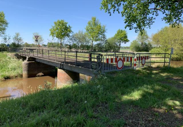 """Die Rad- und Fußwege Brücke """"Altenberger Wiesen"""" in Haren bleibt bis auf Weiteres gesperrt. Foto: Stadt Haren (Ems)"""