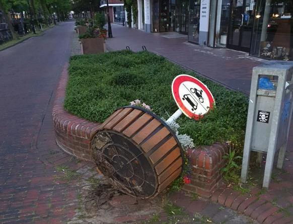 Vandalismus am Hauptkanal - Foto: Stadt Papenburg