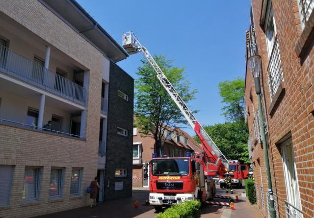 Lingen - Feuerwehreinsatz in der Mühlentorstrasse - Foto: NordNews.de