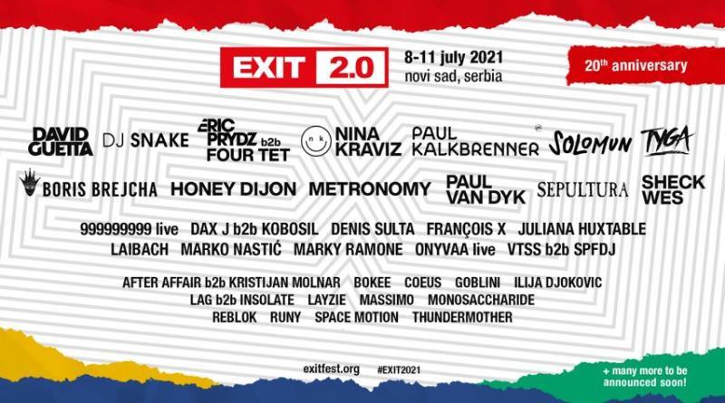 Sheck Wes, Paul Kalkbrenner, Nina Kraviz, Honey Dijon und Solomun stoßen zum Line-Up des 20-jährigen Jubiläums vom EXIT Festival