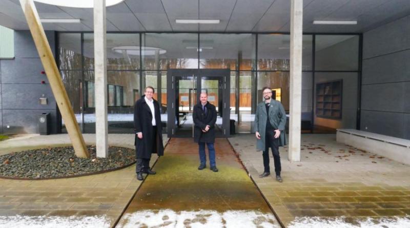 (v. l.) Marc-André Burgdorf, Martin Koers, Sebastian Weitkamp (Foto: Stiftung Gedenkstätte Esterwegen)