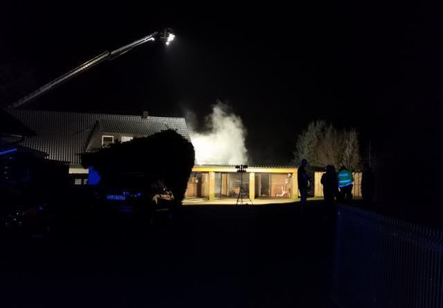 Haselünne - Feuerwehreinsatz in der Ringstraße - Foto: NordNews.de
