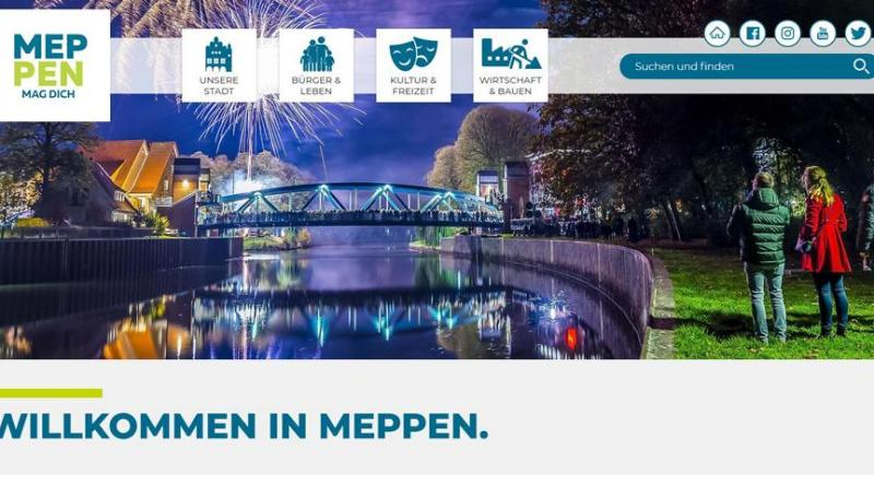 Neue Homepage der Stadt Meppen